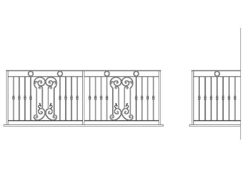 balconi ringhiere in ferro battuto : Ringhiere in ferro battuto per balconi